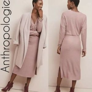Anthro Eri + Ali Splendor Dress Pink Size S